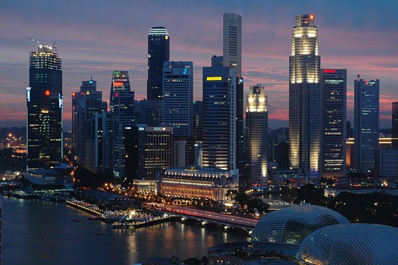 Singapore_CBD_Dusk